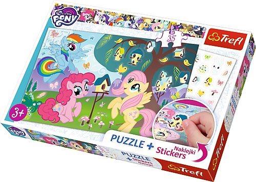 Puzzle se samolepkami TREFL 75116 My Little Pony 35 dílků