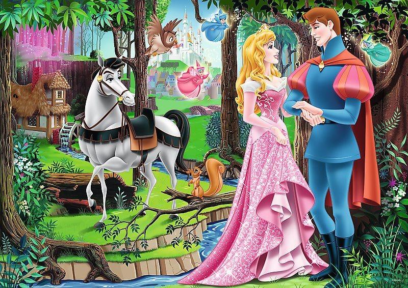 TREFL Puzzle Šípková Růženka: Setkání v lese 200 dílků