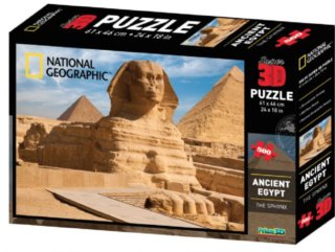 PRIME 3D Puzzle Sfinga, Egypt 3D 500 dílků