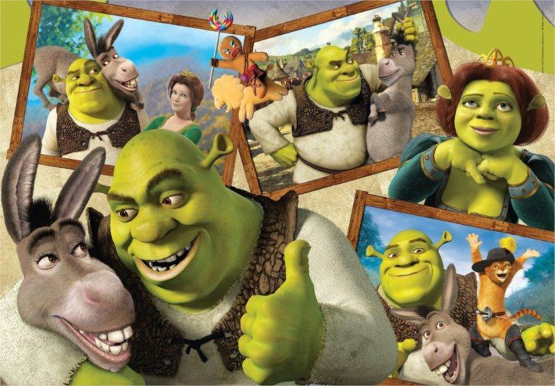 CLEMENTONI Puzzle Shrek 104 dílků