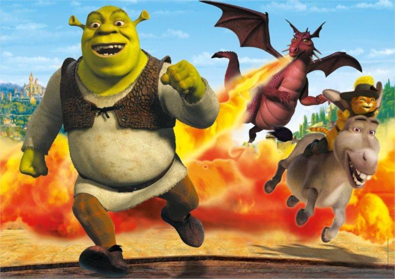CLEMENTONI Puzzle Shrek: Na útěku MAXI 104 dílků