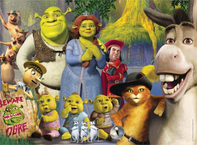 CLEMENTONI Puzzle Shrek: S rodinou 500 dílků