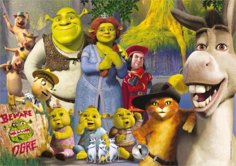 CLEMENTONI Puzzle Shrek: S rodinou MAXI 104 dílků