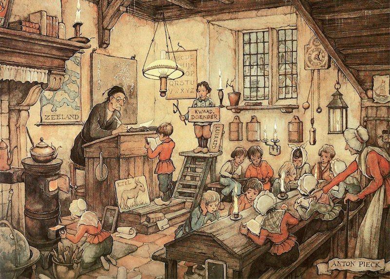 JUMBO Pieck: Školní třída - puzzle 1000 dílků