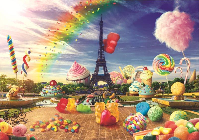 TREFL Puzzle Legrační města: Sladká Paříž 1000 dílků