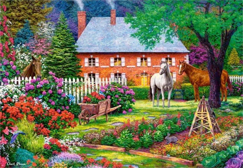 CASTORLAND Puzzle Sladká zahrada 1500 dílků