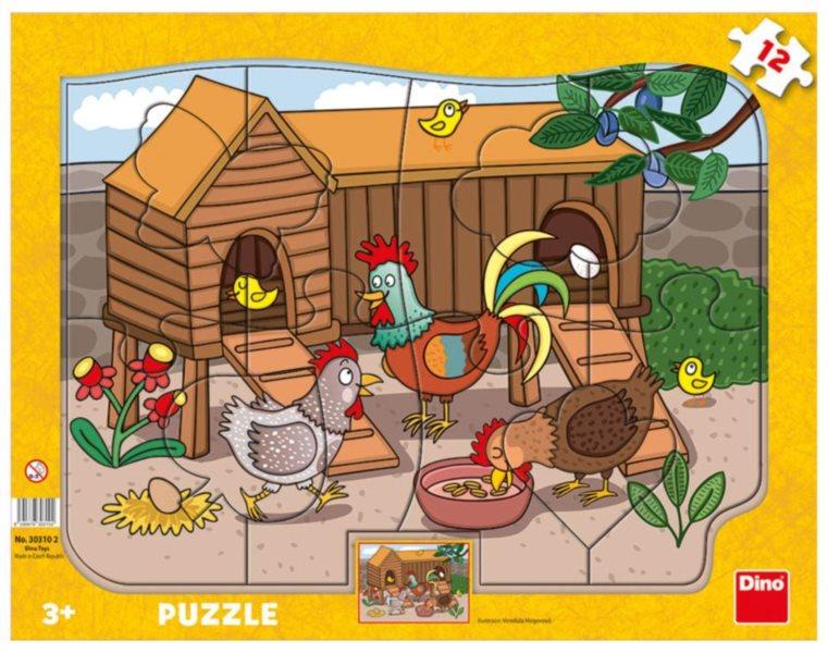 DINO Puzzle Slepičky 12 dílků