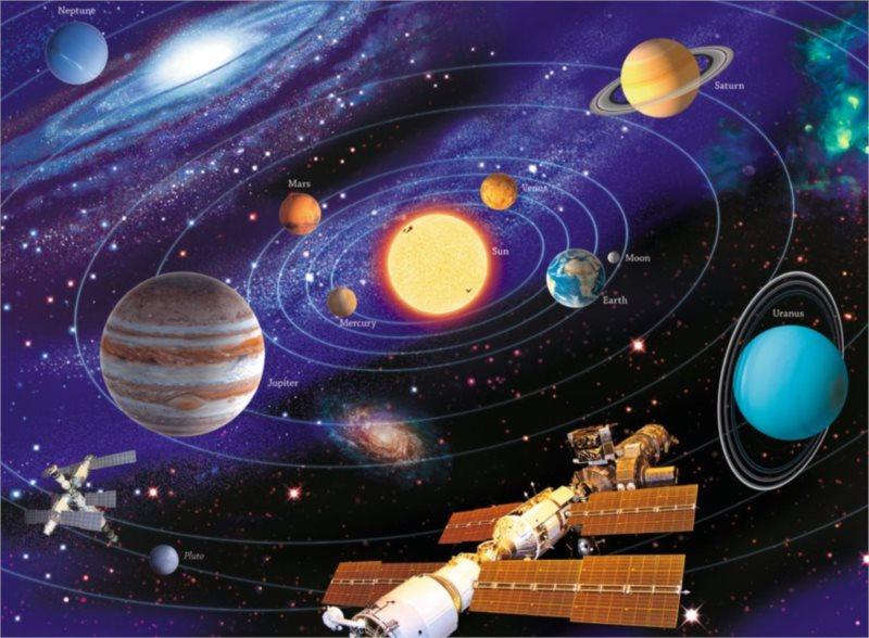 RAVENSBURGER Puzzle Sluneční soustava XXL 200 dílků