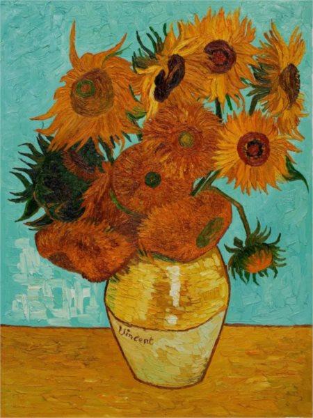 Puzzle PIATNIK 561740 V. van Gogh: Slunečnice 1000 dílků