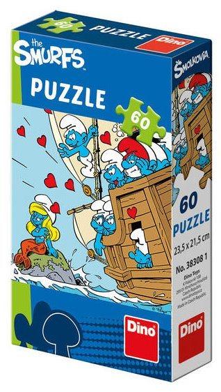 DINO Puzzle Šmoulové: Na lodi 60 dílků