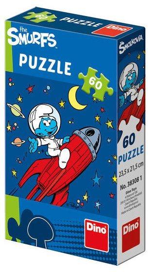 DINO Puzzle Šmoulové: Ve vesmíru 60 dílků