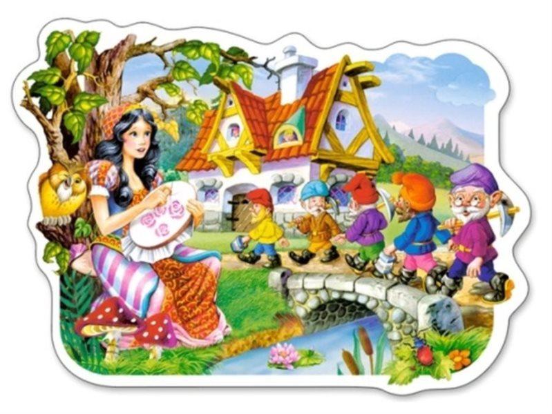 CASTORLAND Puzzle Sněhurka a sedm trpaslíků 15 dílků
