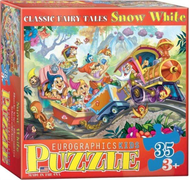 Dětské puzzle EUROGRAPHICS 35 dílků : Sněhurka a sedm trpaslíků