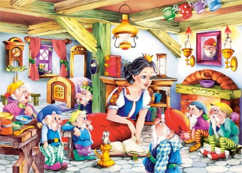 CASTORLAND puzzle Sněhurka a sedm trpaslíků 70 dílků