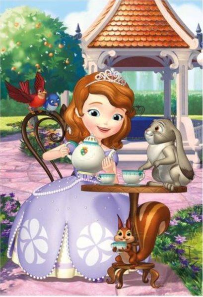 Dětské puzzle DINO 24 dílků - Sofie a zvířátka