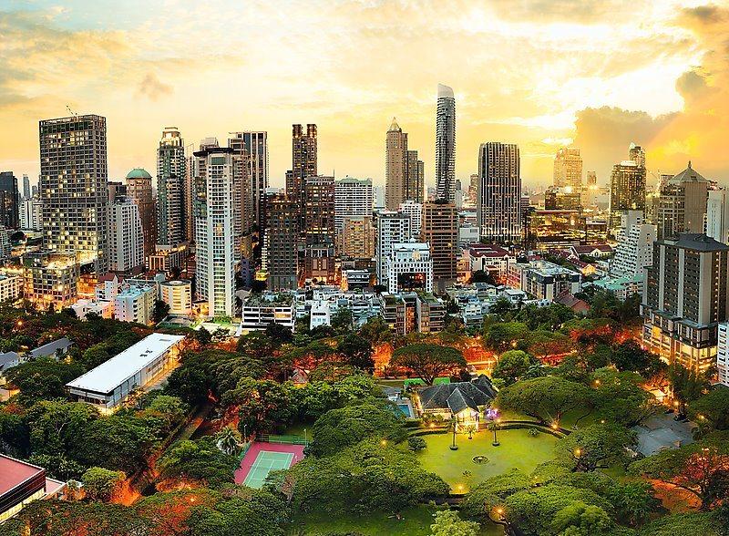 Puzzle TREFL 33060 Soumrak v Bangkoku, Thajsko 3000 dílků