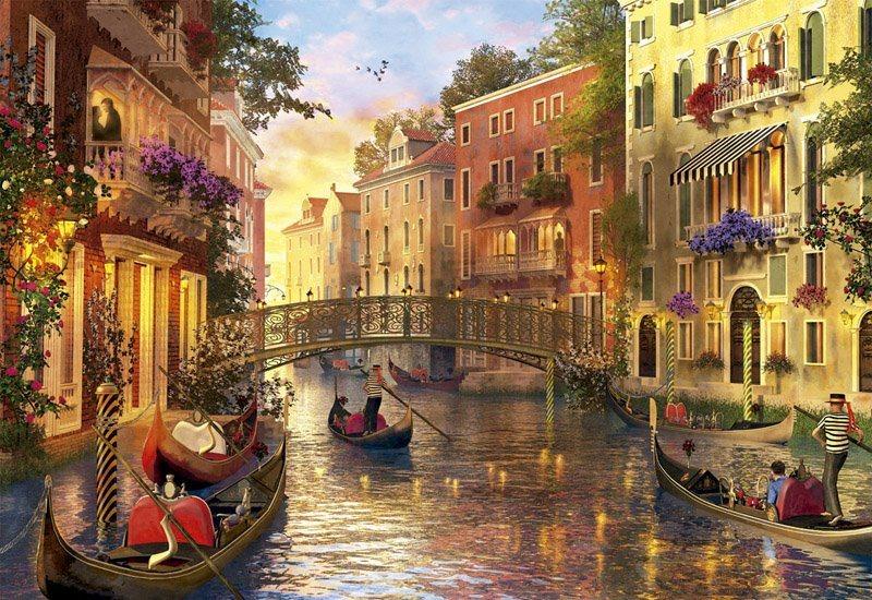 EDUCA Puzzle Soumrak v Benátkách 1500 dílků