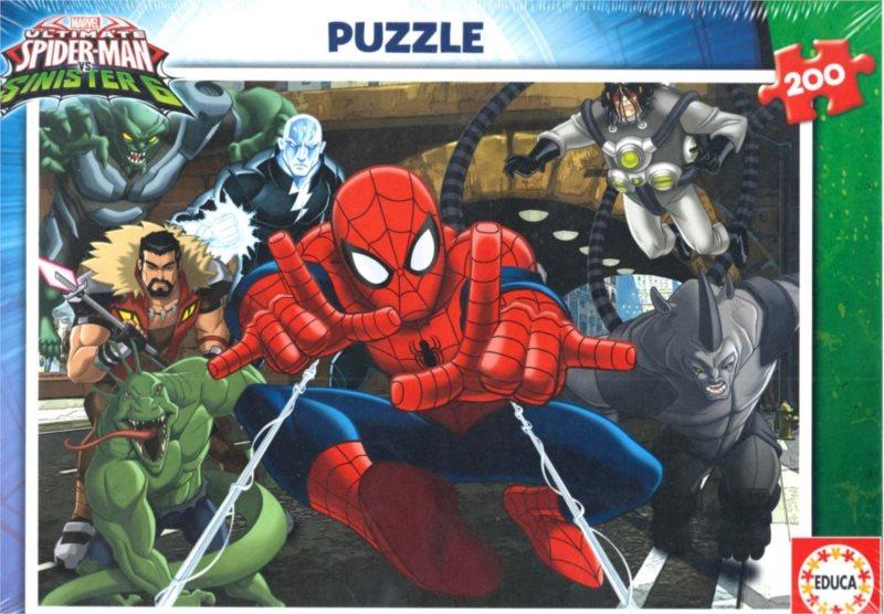 EDUCA Puzzle Spiderman: Sinister 6 200 dílků