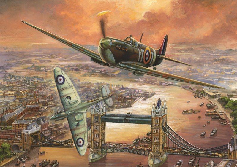 FALCON puzzle 1000 dílků - Spitfire nad Londýnem