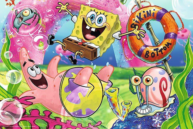 Puzzle pro děti TREFL 100 dílků - SpongeBob v kalhotách