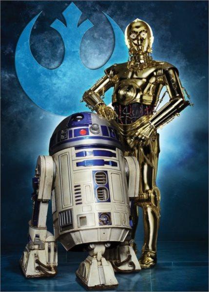 RAVENSBURGER Puzzle Star Wars: R2-D2 a C-3PO 1000 dílků
