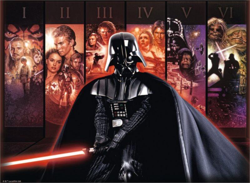Puzzle RAVENSBURGER 500 dílků - Star Wars Sága