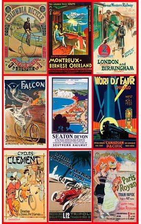 Puzzle PIATNIK 547546 Staré cestovní plakáty 1000 dílků