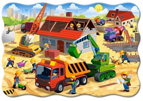 CASTORLAND Puzzle Stavba domu MAXI 20 dílků