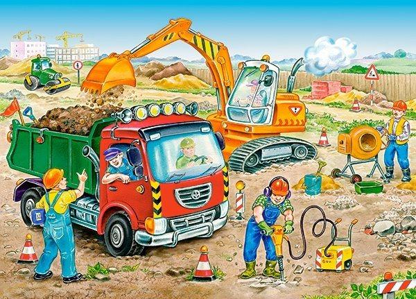 CASTORLAND Puzzle Stavební práce 120 dílků