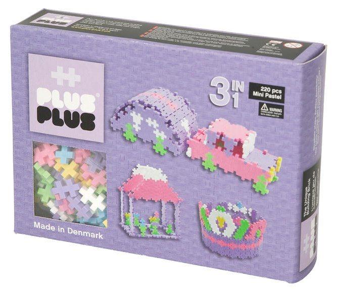 Puzzle stavebnice PLUS PLUS Mini Basic pro holky - 220 dílků