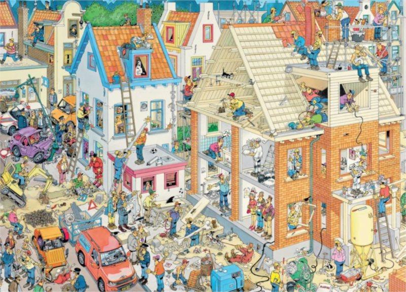 JUMBO Puzzle Staveniště 3000 dílků