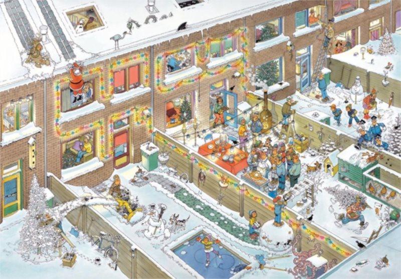 JUMBO puzzle 2000 dílků - Štědrý večer, Haasteren