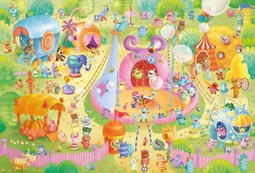 Puzzle SCHMIDT 59369 Strachojedlíci: Cirkus 1000 dílků