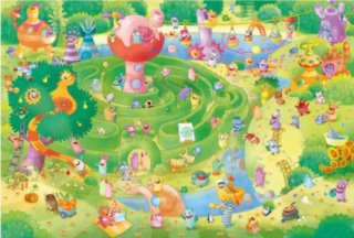 Puzzle SCHMIDT 59370 Strachojedlíci: Labyrint 1000 dílků