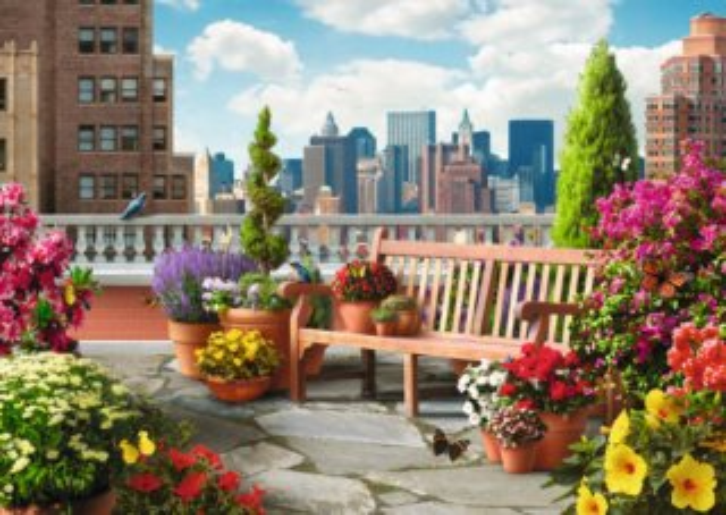 RAVENSBURGER Puzzle Zahrada na střeše XXL 500 dílků