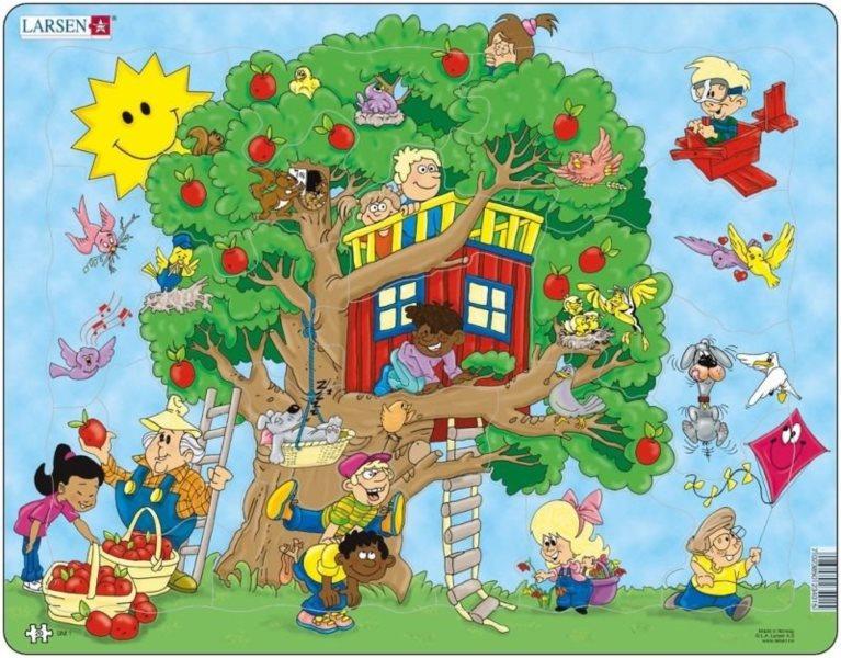LARSEN Puzzle Stromový domek 20 dílků