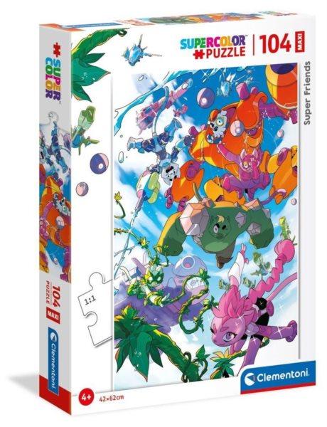 CLEMENTONI Puzzle Super Friends! MAXI 104 dílků