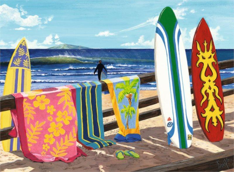 Puzzle RAVENSBURGER 500 dílků - Surfaři