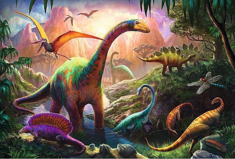Puzzle pro děti TREFL 100 dílků - Svět dinosaurů