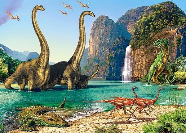 CASTORLAND Puzzle Svět dinosaurů 60 dílků