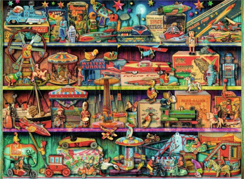 RAVENSBURGER Puzzle Svět hraček 500 dílků
