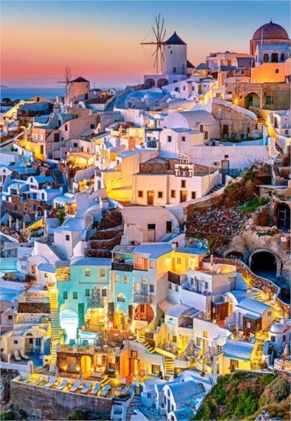 CASTORLAND Puzzle Světla v Santorini 1000 dílků