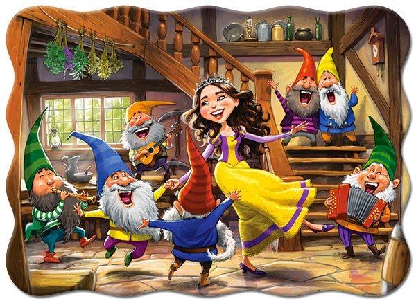 CASTORLAND Puzzle Tančící Sněhurka a sedm trpaslíků 30 dílků