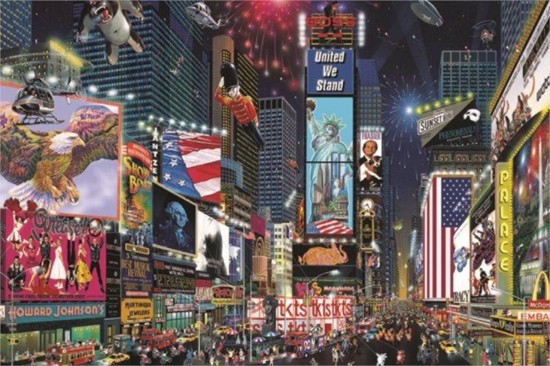 Puzzle JUMBO 18583 Times Square, New York 1500 dílků