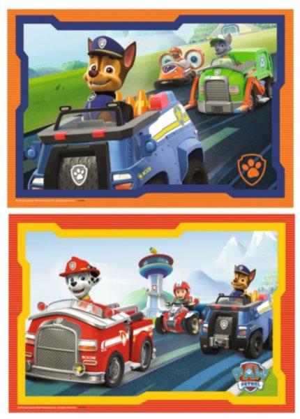 RAVENSBURGER Puzzle Tlapková patrola v akci 2x12 dílků