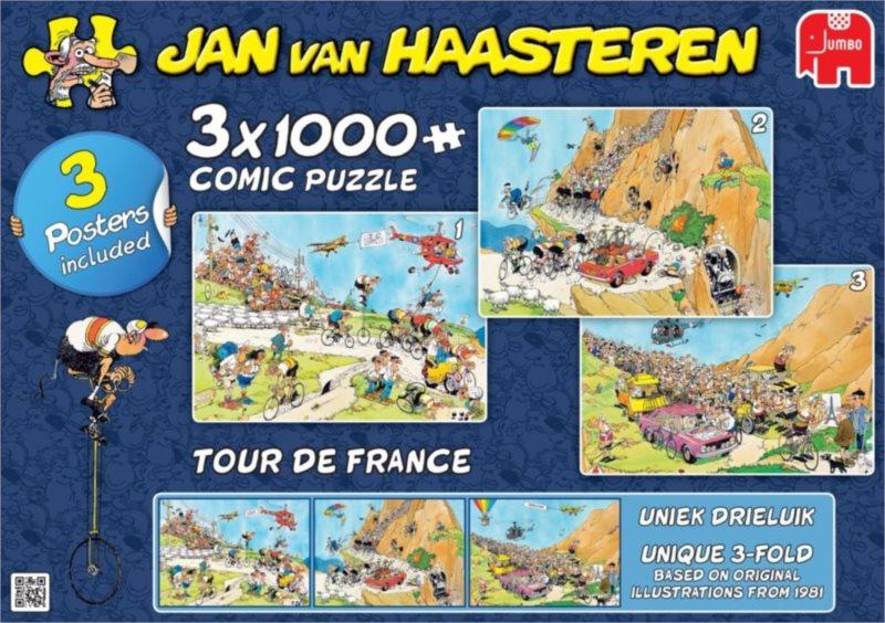 JUMBO Puzzle Tour de France 3x1000 dílků