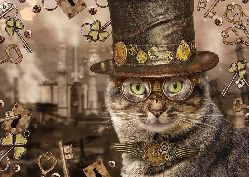 SCHMIDT Puzzle Steampunk: Kočka 1000 dílků