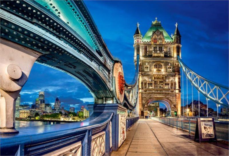 CASTORLAND Puzzle Tower Bridge Londýn 2000 dílků