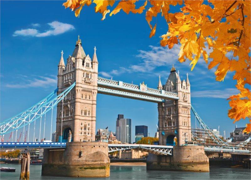Puzzle RAVENSBURGER 19637 Tower Bridge, Velká Británie 1000 dílků