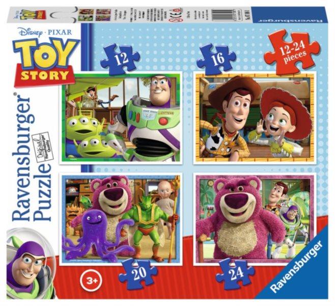 RAVENSBURGER Puzzle Toy Story 3 4v1 (12,16,20,24 dílků)